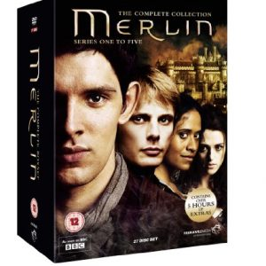 Merlin-The-Complete-Collection-Series-One-to-Five-Reino-Unido-DVD-0