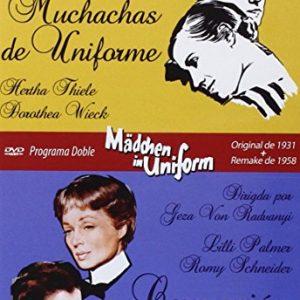 Programa-Doble-Mdchen-In-Uniform-Original-De-1931-Remake-De-1958-Muchachas-De-Uniforme-Corrupcin-En-El-Internado-DVD-0